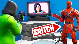 Hiding In A GAMING SETUP! (Fortnite Snitch Hide And Seek)
