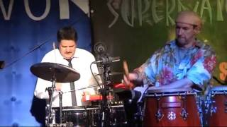 SUPERNATURAL play SANTANA live at Bedburg 01.03.2011 Percussion Solo: drums, timbales, congas