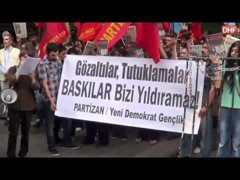 DHF - Özgür Gelecek ve YDG Okurlarına Yapılan Tutuklamalar Ankara'da Protesto Edildi