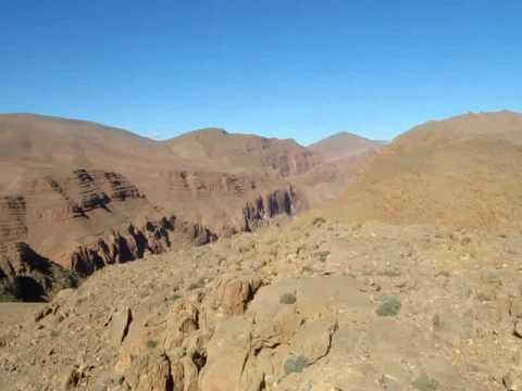 Hiking on the edge of the Atlas Mountains near Tinghir, Morocco