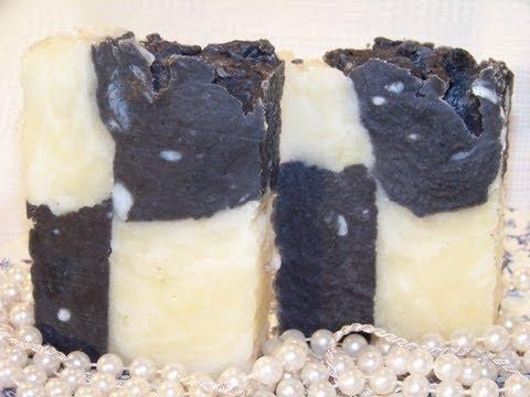 How to make Homemade Lye Soap, Checker Board Soap Mold Design