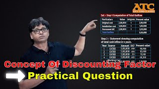 Concept of Discounting Factor Practical Question