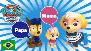 Primeira Palavra Patrulha Canina Bebê Filhotes Falando Mama Papa Skye Chase Patrulla Pata Portugues
