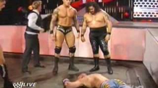 120108 Randy Orton and Legacy Attack John Cena