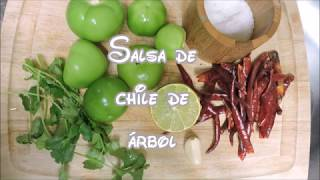 Sencilla Receta de Salsa de chile de árbol