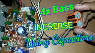 How to increase Bass level 4x on any amplifier using Capacitor