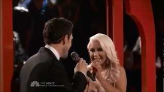"Christina Aguilera and Chris Mann: ""The Prayer Live"""