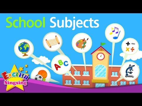 Kids vocabulary - School Subjects - favorite subject - English educational video - YouTube