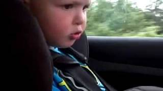 "3yr old singing ""Behind the clouds"" cars."