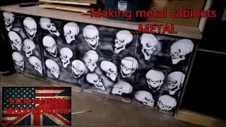 Making metal cabinets ..... METAL 🤘😎🤘 ... with skull stencils
