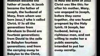 Audio Bible: The Book of Genealogy of Jesus Christ (Mathew Chapter 1)