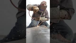 """5/32 7018 42"""" top weld"""
