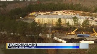 Train derailment in Jefferson County