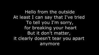Adele-Hello Lyrics (Music Lyrics) -HQ
