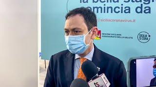 Intervista Ruggero Razza per inaugurazione Hub Covi-19 ex Fiera di Mes... - www.canalesicilia.it