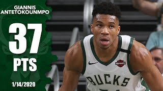 Giannis Antetokounmpo goes on a tear, scores 37 points in 21 minutes   2019-20 NBA Highlights