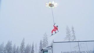 Drone voor snowboarden en waterskiën