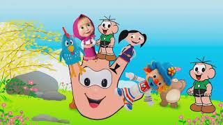 Finger Family ! Patati,Luna,Cebolinha,Marsha,Galinha Pintadinha!