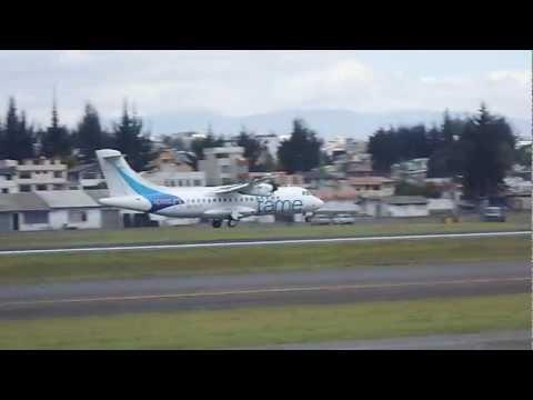 Tame Ecuador ATR 42-500 landing at Quito
