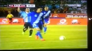 Cagada de Marco Pappa Guatemala vs Argentina (0-4) 6/14/13