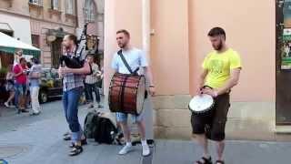 Alba gu brath! - Andro (Scottish bagpipe music Live@Lviv) #FolkRockVideo