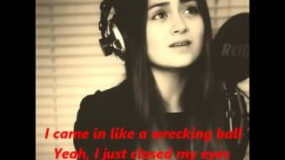 Jasmine Thompson Wrecking Ball + Lyrics