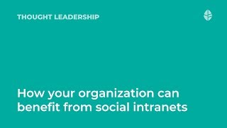 Thought Leadership   How your organization can benefit from social intranets Logo
