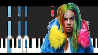 6ix9ine - Gotti (Piano Tutorial)