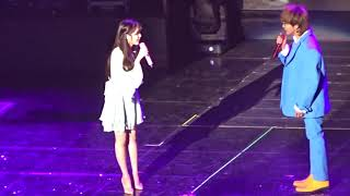 [ENG SUB] [2017 12 09] IU and G Dragon Talk at IU's Palette Concert width=
