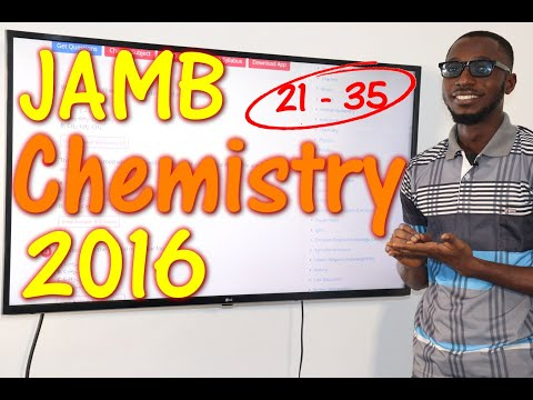 JAMB CBT Chemistry 2016 Past Questions 21 - 35
