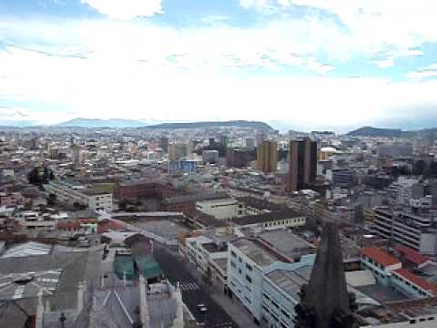 View from the top of the Basilica, Quito, Ecuador
