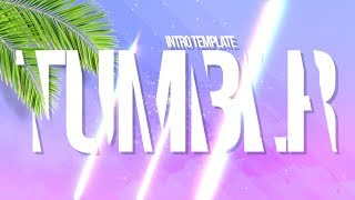 TUMBLR TROPICAL PURPLE INTRO TEMPLATE (NO TEXT)