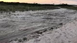 Overwash during High Tide - Hurricane Jose