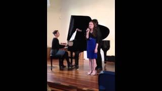 Emily singing Bridge of Light