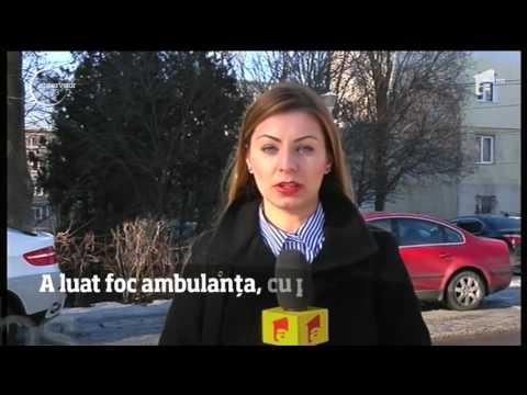 O salvare a luat foc în drum spre spitalul din Vaslui