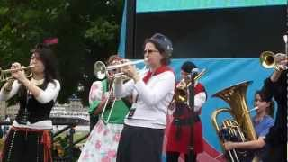 Trans-Siberian March Band play Balkan wedding tune Sota at Potters Field, September 2012
