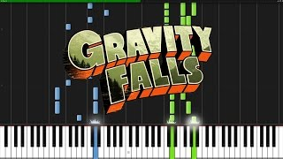 Gravity Falls Theme [Piano Tutorial] (Synthesia)
