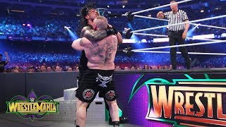 Brock Lesnar brutalizes Roman Reigns in a shocking display of force: WrestleMania 34 (WWE Network)