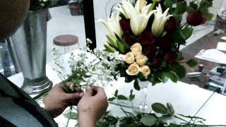 Cara merangkai bunga width=
