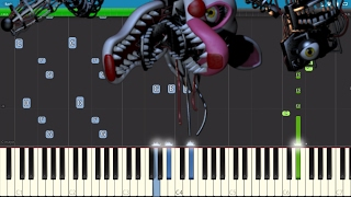 Five Nights At Freddys 4 Song -  I Got No Time - Piano Tutorial - The Living Tombstone