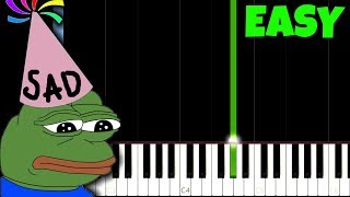Happy Birthday, but it's so sad [Easy Piano Tutorial] (Synthesia)