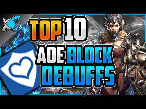 TOP 10 *AOE Block Debuffs* Champions | The BEST Buff in the Game !? | RAID: Shadow Legends
