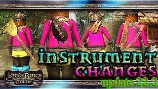 LOTRO Gameplay Instrument Changes 🎻🎸🥁 Update 22.2