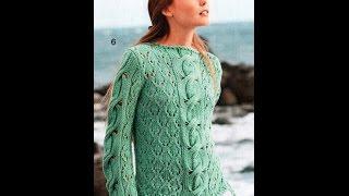 Вязание Спицами - Модели Джемперов для Женщин - 2018 / Knitting sweaters for Women Models /Pullover