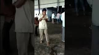 India Guy funny dance while eating food