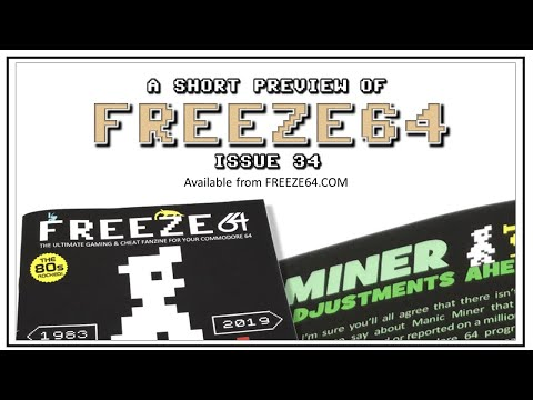 FREEZE64 fanzine issue 34 for the Commodore 64