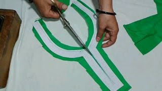 Kameez neck cutting and stitching in hindi width=