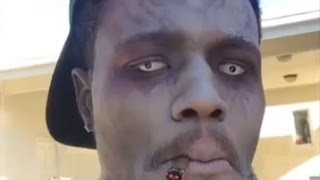 DC Young Fly Gets Super High On Zombie Movie Set