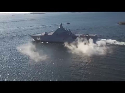 CybAero Ship Trials from Swedish Navy stealth corvette VISBY