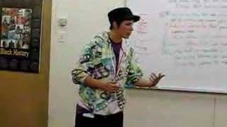 Invincible rhyming at Oakland Unity High School 2
